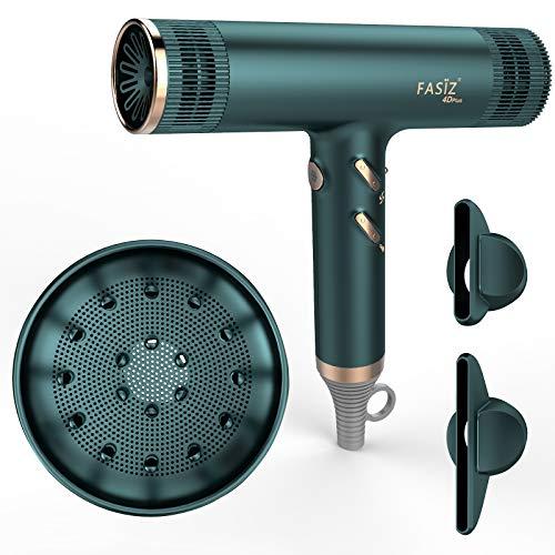 FASIZ Hair Dryers,Professional Ionic Salon Hair Blow Dryer, Lightweight Fast Dry Low Noise (Dark Green)