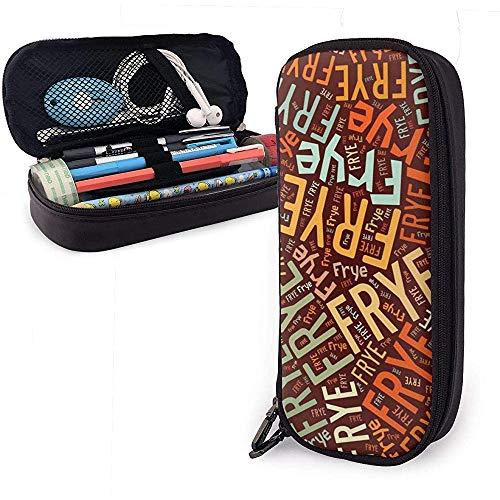 Frye - American Style Astuccio per matite in pelle di grande capacità Matita Penna Cancelleria Organizer Trucco per ufficio Penna Stuff Borsa da viaggio