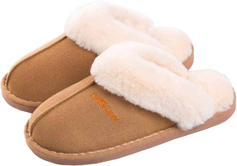 SOSUSHOE Womens Slipper, Fluffy Slip On House Slippers Clog Soft Indoor Outdoor Slipper for Winter, 9.5-10.5 B(M) US
