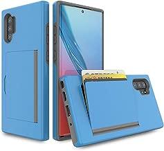 Samsung Galaxy Note 10 Smartphone case TPU 2 in 1 PC Anti Falling Clam Shell Card Slot Back Cover (Sky Blue)