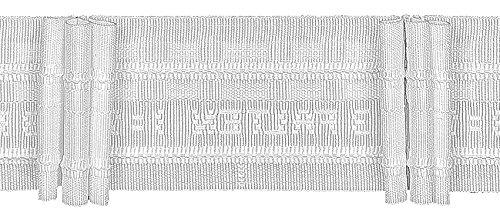 Ruther & Einenkel Faltenband mit 3 Falten 50 mm, 250% / Aufmachung 10 m, Polyester, weiß, 1000 x 5 x 0.2 cm
