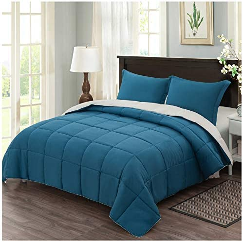Homelike Moment Lightweight Comforter Set Queen Teal Reversible All Season Down Alternative product image