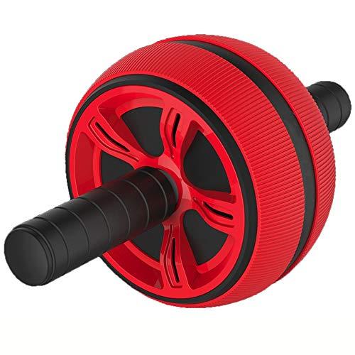 DAI QI Rodillo Grande silenciosa Rueda Abdominal Entrenador aparatos de Gimnasia Inicio Pesas AB Roller (Color : Rojo)