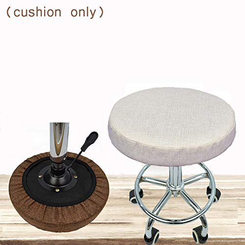 Bar Stool Cushion Anti-Slip Cover Round Chair Cushion Soft Garden Floor Seat Pad Office Indoor Outdoor Kitchen Dining Bench Cushion Protector 5cm thick