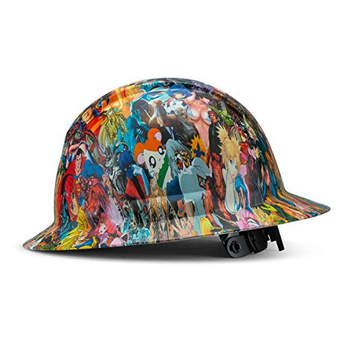Full Brim Customized Ridgeline Hard Hat, Custom Cartoons And Character Design Safety Helmet, With 4 Point Suspension, By Acerpal