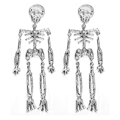 Earrings, Fashion Dangle Earrings Long Pendant Skeleton Shape Jewelry Women Gift for Halloween Party Christmas Ladies Accessories