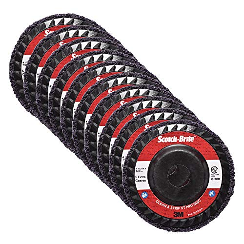 5000 RPM Scotch-Brite 18594 EXL Unitized Wheel 6 Diameter Pack of 8 Abrasive Grit 6 x 1//4 x 3//8 2S FIN