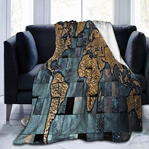 XCNGG mantas de cama mantas de siesta mantas de aire acondicionado Square World Map Sherpa Blanket Comfy Premium Flannel Fleece Blanket Comfortable Thermal Blankets Durable Lap Blanket Warm Sofa Blank