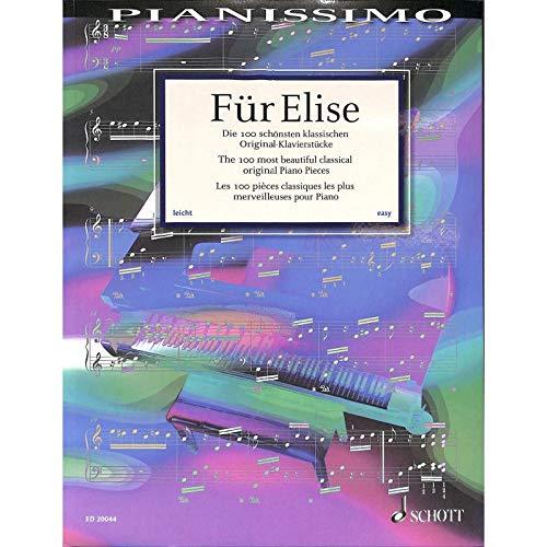 Für Elise - Hans-Günter Heumann Sammlung der 100 schönsten leichten Originalkompositionen für Klavier Fuer Elise mit bunter herzförmiger Notenklammer - Neben zahlreichen Einzelstücken finden sich auch leichte Sonaten und Sonatinen von Haydn, Cimarosa, Clementi, Mozart und Beethoven.