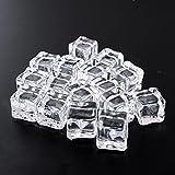 Auntwhale 16 PCS Cubitos de Hielo acrílico Forma Cuadrada Falso Cubitos de Hielo Acrílico Artificial Cristalino para Accesorios de Fotografía Cocina Juguete Decoración