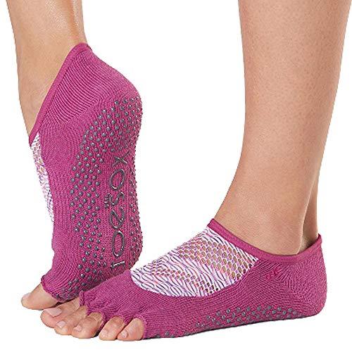Toesox Women's Grip Half Toe Luna, Future, Medium
