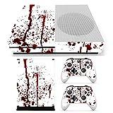 C-FUNN Pelle di Sangue Decalcomanie Adesivi Copertina per Xbox One S Console di Gioco & 2 Controllori