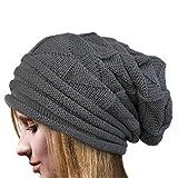iYmitz Femme, Féminine Hat Hiver Skullies Bonnets Chapeaux Tricotés Chaud Bonnet pour l'hiver avec Design Classique et Moderne