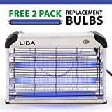 LiBa Bug Zapper Electric Indoor Insect Killer Mosquito, Bug, Fly Killer - 2-Pack Replacement Bulbs Included