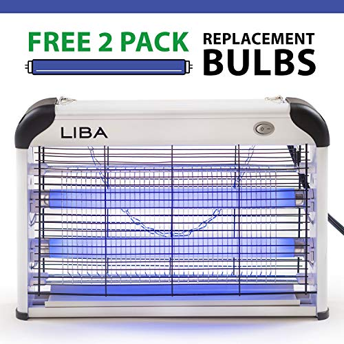 LiBa Bug Zapper Electric Indoor Insect Killer Mosquito, Bug, Fly Killer - 2-Pack Replacement Bulbs...