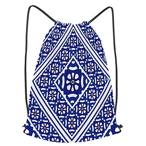 Impermeable Bolsa de Cuerdas Saco de Gimnasio Fondo floral decorativo de papel tapiz transparente de porcelana Deporte Mochila para Playa Viaje Natación