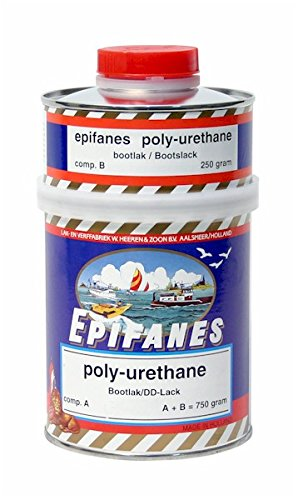 EPIFANES PU-Lack schwarz 750g incl. Härter E4-801 Poly-Urethane Lack mit UV Schutz DD-Yachtlack