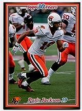 JOGO INC. 2010 Jogo Paris Jackson Card #127 BC Lions University of Utah