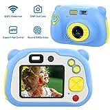 MoKo Upgrade Kids Selfie Camera, WiFi Kids 12MP Dual Lens Digital Video Camera for Boys Girls Age 3 4 5 6 7 8 9 10 11 12 Years Christmas Birthday Gifts - Blue