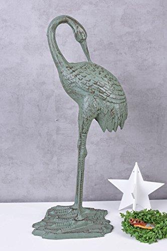 Reiher Figur Gusseisen Fischreiher Teichreiher Teichfigur 73cm Vogelfigur lta350 Palazzo Exklusiv