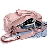 Gym bag for women, workout duffel bag shoe compartment, sports gym bags with wet pocket and shoe...