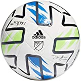 adidas MLS Nativo XXV Club Soccer Ball White/Solar Green/Glory Blue/Black 5