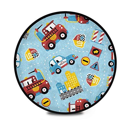 FULUHUAPIN Alfombras circulares de pelo para niñas de 91,9 cm de diámetro para dormitorio de niños, habitación de bebé, área de peludo, sala de juegos, alfombras de tipee y guardería 2031755