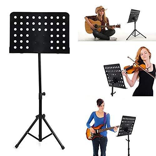 Apelila Folding Music Stand Height Adjustable Music Holder Lightweight Portable Metal Tripod (#1 Music Stand)