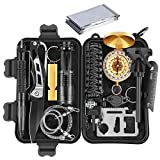LEVORY J Gifts for Men Dad Husband Boyfriend him,Ssurvival Gear and Equipment,Emergency Survival Kit 14 in 1,Cool Birthday Gifts,Tactical Gear,Fishing Hunting Hiking Camping Gear