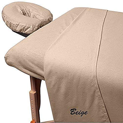 L'American Bedding Big Holiday Deals Amazon 1500 Thread-Count 100% Pure Egyptian Cotton 3-Piece Massage Table Spa Sheet Set Fit up to 5-7
