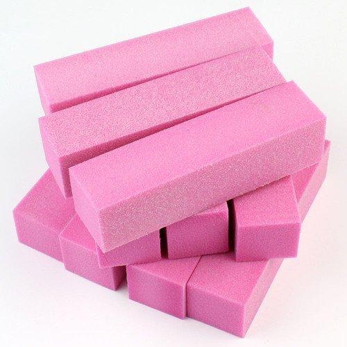 NiceButy - Set di 20 spugne abrasive per nail art, per la cura dei pedicure (rosa)