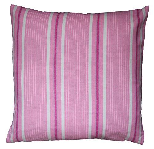Lazis - Kissen, Kissenhülle, Zierkissen - Simple Fergus - 40 x 40 cm - Pink, Rosa gestreift
