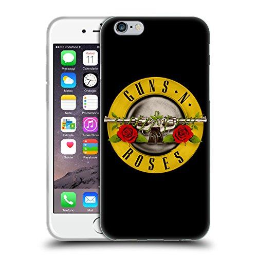 Head Case Designs Licenza Ufficiale Guns N' Roses Logo Pallottole Arte Chiave Cover in Morbido Gel Compatibile con Apple iPhone 6 / iPhone 6s