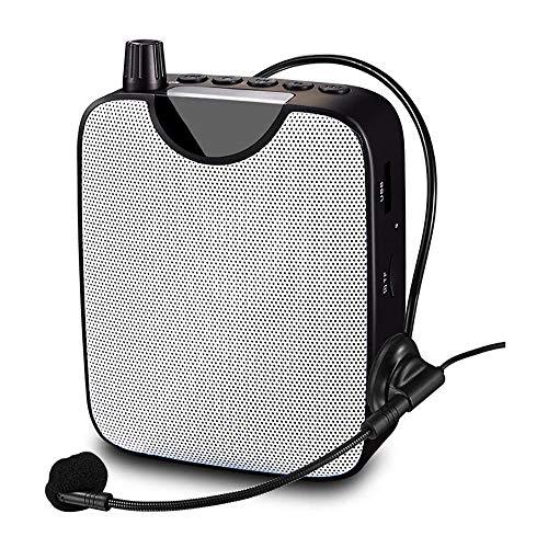 Voice Versterker, Wireless Portable Voice Versterker FM Megafoon AUX Audio Speaker High Power, Voor Leraren/Gidsen/Training/Meeting,Black