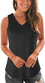 WFTBDREAM Women's Summer Tank Tops Sleeveless Casual V Neck Shirts