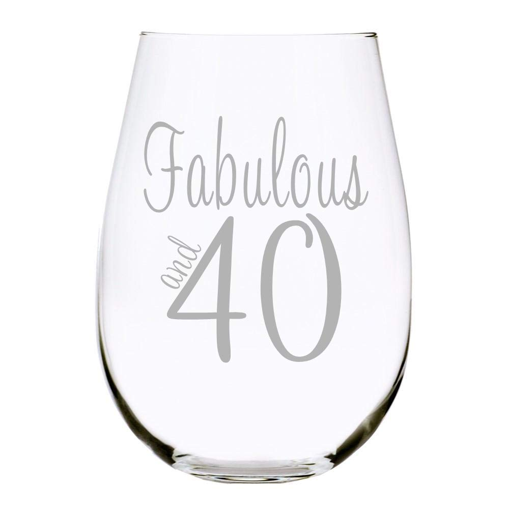 C Super sale 35% OFF M Fabulous and 40 oz. glass stemless wine 17