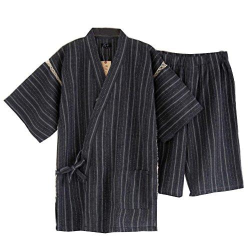 Traje de pijama Kimono de estilo japonés para hombres [H]