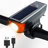 STBAAS Luz de la Bici, el Sistema Impermeable del USB de 350 lúmenes Bell de la Bicicleta de luz LED de la lámpara Recargable Delantero Faros