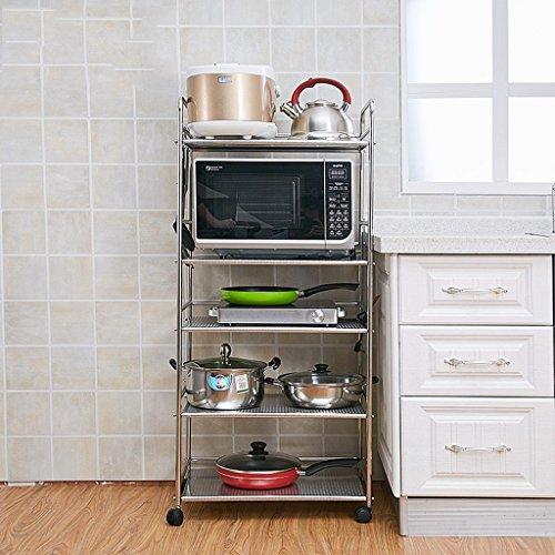 Armadietti 5 Strati di Acciaio Inossidabile Piano del Forno a microonde Finitura Rack da Cucina Rack (Dimensioni : 49cm)