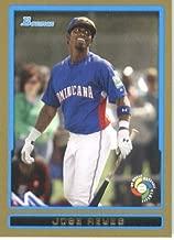 Jose Reyes - Dominican Republic (World Baseball Classic) 2009 Bowman Draft GOLD WBC Prospects Baseball Card # BDPW7 - MLB Baseball Trading Card