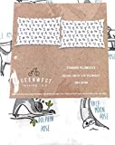 QueenWest Trading Co Cute Sloths Doing Yoga Poses Novelty Set of 2 Standard Pillowcases | 100% Cotton