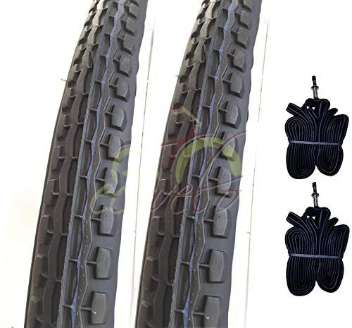 Deestone EBA24BND 2 COPERTONI BIANCONERI + 2 Camera d'Aria 24 X 1.75 (47-507) City Bike Bici GRAZIELLA
