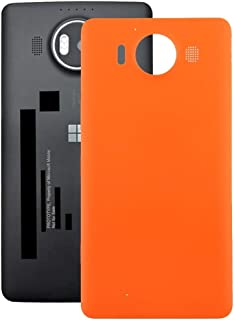 Lingland Battery Back Cover For Microsoft Lumia 640 XL (Black) cell phone rear covers placement parts (Color : Orange)