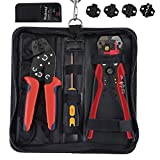 Alicate terminales kit Alicate Pelacables Automático Set con 1*Crimpador de Cable(0.25-10mm²)...