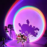 【Latest 16 Color Modes in 1 Sunset Projector】The latest and unique sunset projection lamp has 16 lighting modes, including 14 colors, dynamic fast flashing and dynamic gradual change. Suitable for children's rooms, bedrooms, creating a different suns...
