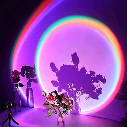 X-Kim Sunset Projector LED Rainbow Projection Light USB Sunset Lamp Projector Romantic Visual LED...