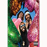 MZCYL Canvas Painting Wall Art Picture Flatbush Zombies Vacation in Hell Rap Music Group Album Stampa Poster Tela Pittura Senza Cornice 40 * 60Cm