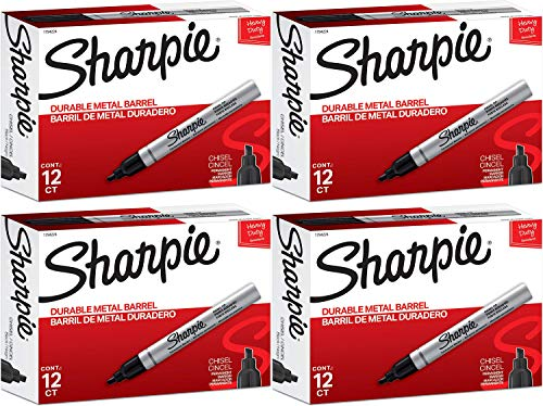 Sharpie Pro Permanent Markers, Black (Pack of 12) 4 Pack