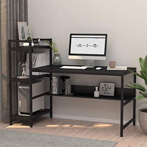 Computer Desk with 4 Tier Storage Shelves - 41.7'' Student...