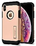 Spigen Funda Tough Armor Compatible con Apple iPhone XS/X, Doble Capa y Protección Extrema contra caídas - Blush Gold